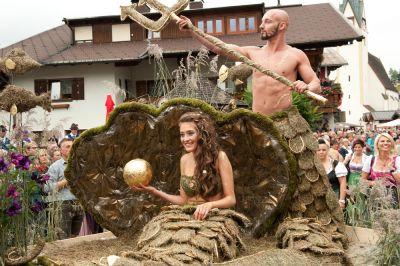 Lammertálské slavnosti slámy Scheffau/Salzburg 22.-31.8.2014
