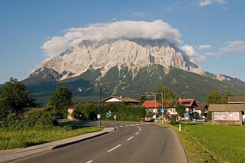 Zugspitze – noc v oblacích