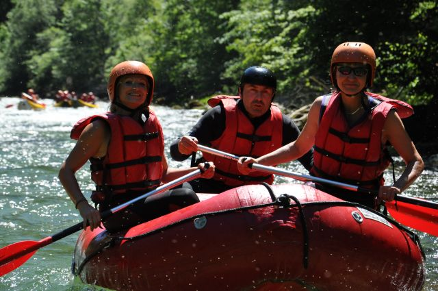 Kanoe a rafting na Salze