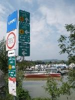 Traismauer-křižovatka Podunajské a Traisenské cyklostezky