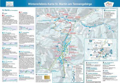 Běžecké tratě v St. Martin am Tennengebirge