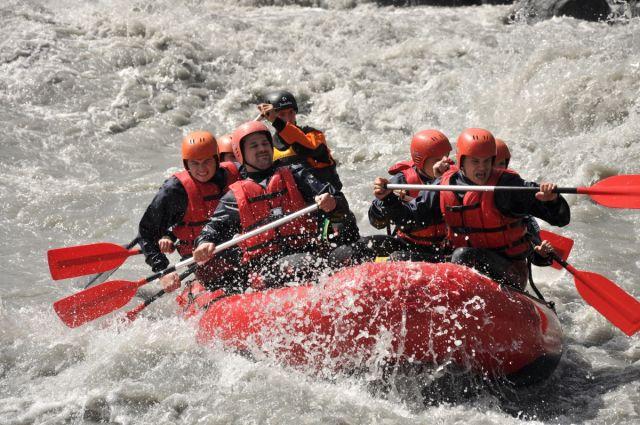 Rafting a turistika ve Švýcarsku