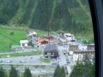 výhled z lanovky na hotel