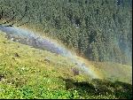 Duha u Krimmelských vodopádů